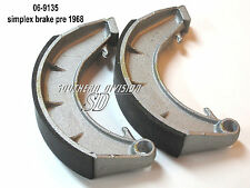 Norton 8 inch BRAKE SHOES GANASCE FERODO 06-9135 06-7715 Atlas Dominator es2