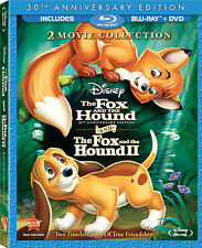 Disney Tale of Friendship The Fox and The Hound 1 and 2 Pack I & II Blu DVD Set