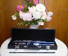 Flute, Brand New Silver-Plated, Blue, Green, Pink, Red, or Purple - Masterpiece