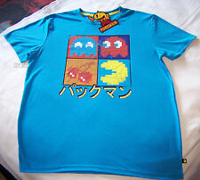 Pac Man Pacman Video Game Mens Blue T Shirt Size S New