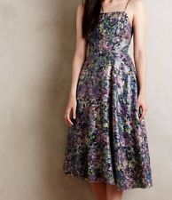 Anthropologie Tracy Reese Sequin Garden Fete Dress 8 Multi Color Midi Floral