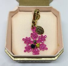 NEW Juicy Couture Limited Edition 2011 Pink Snowflake Charm