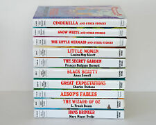 Lot of 10 GREAT ILLUSTRATED CLASSICS Hardcover Series Set of Books for Girls