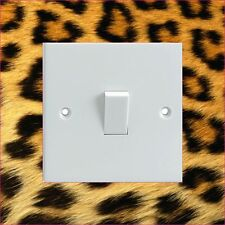 Leopard Fur Pattern Electrical Light Switch Surround Printed Vinyl Sticker