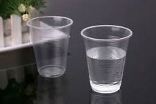 100 x CLEAR PLASTIC DISPOSABLE CUPS - PERFECT FOR A PARTY - WATERCOOLER