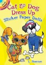 Dover Little Activity Books Paper Dolls: Cat and Dog Dress up Sticker Paper...