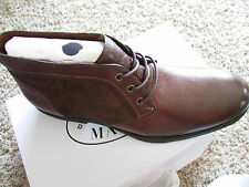 NEW STEVE MADDEN DERON CHUKKA ANKLE BOOTS MENS 12 BROWN LEATHER LACE UP