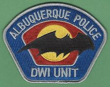 ALBUQUERQUE NEW MEXICO POLICE DWI ENFORCEMENT PATCH STYLE 2