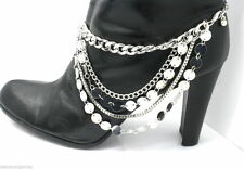 Shoe Boot Jewelry Bracelet Woman's Ladies Heel Chain Anklet Accessory Silver T