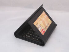 WALLET TRIFOLD WITH OUTSIDE WINDOW VERY RARE NEW BLACK