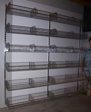 Rückwand 12 Körbe Ladeneinrichtung Korb Kleiderständer Kleiderschrank Regal