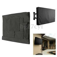40-42 Inch Weatherproof Black TV Cover Outdoor Patio Flat Television Protector