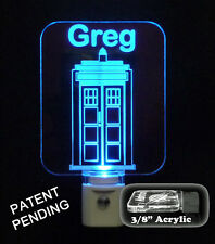 Unique LED Products Personalized Doctor Who Tardis Night Light, LED Light