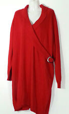 Lane Bryant Red Sweater Dress 3X 26 28 Plus Size Red Dress