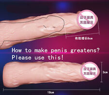 100% TPR CyberSkin Realistic extender,Phthalate Free Penis Condom Sleeve