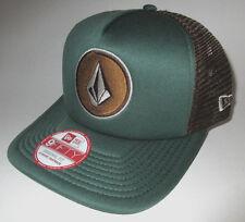 MENS VOLCOM SNAPBACK ADJUSTABLE HAT GREEN/BROWN CAP ONE SIZE