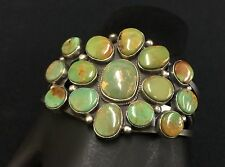 Cluster Bracelet by Elle Jackson * Renown Native American Silversmith* Turquoise