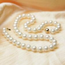 """8-9mm White South Sea Round Pearl Necklace 18"""" 14k gold ball clasp"""
