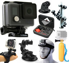 GoPro HERO Action Camcorder Camera + Case + Head Strap + Car Dash Mount + Tripod