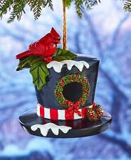 Winter Garden Accents - Bird House - TOP HAT BIRD HOUSE - Cardinal Bird House