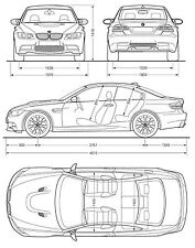 BMW M3 E92 CAR DIMENSIONS POSTER PICTURE PRINT ART