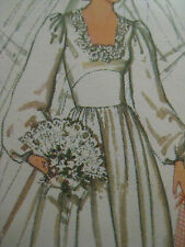 Vintage Simplicity 7886 SQUARE NECK BRIDAL WEDDING GOWN DRESS Sewing Pattern
