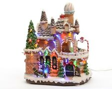 Christmas Decoration LED Gingerbread House Palace with Sweets and Ginger People