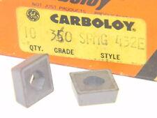 10 NEW SURPLUS CARBOLOY SPMG 432E 350 CARBIDE INSERTS