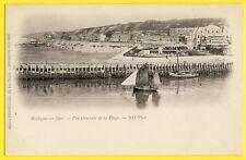 cpa Dos 1900 BOULOGNE sur MER Vue Générale de la PLAGE Voilier Bateau