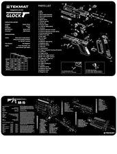 Glock & AR-15 M16 M4 TEK-MAT Combo Set  Armorers Gun Cleaning Bench Mats