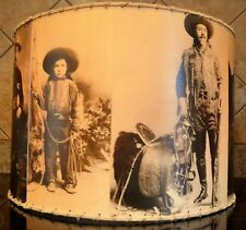 "Cowboy Lamp Shade, 12"" x 12"", Western Decor"