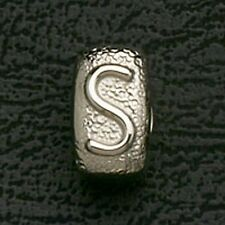 Bead Initial S Stainless Steel Jewelry Fit European Charm Bracelet Free Shipping