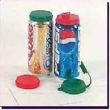 6 SODA Beer CAN Lid LIDS Caps COVERS Savers W/ POUR Drink Spout ~ VARIOUS Colors