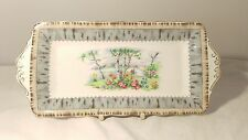 "Royal Albert Silver Birch 10 5/8"" Rectangular Handled Tray - Chipped"