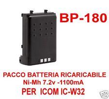 BP-180 ICOM PACCO BATTERIA RICARICABILE Ni-Mh 7.2V 1100mA/h PER ICOM IC-W32