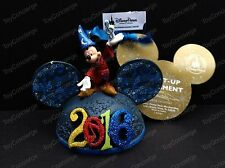 DISNEY PARKS Ear Hat Ornament 2016 SORCERER MICKEY Light Up NWT