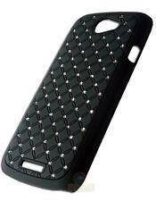 Coque rigide avec strass coloris noir HTC Ville One S