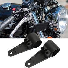 Universal Headlight Mount Bracket Fork Tube Motorcycle Bobber Cafe Racer Chopper
