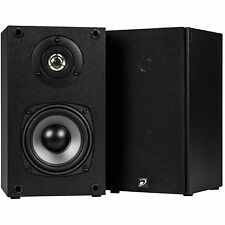"NEW (2) 4.5"" Bookshelf Audio Speakers.Wall Mount Pair Stereo Sound.Home Theater"