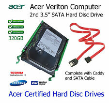 "320GB Acer Veriton M275 2nd 3.5"" SATA Hard Disc Drive (HDD) Upgrade with Caddy"
