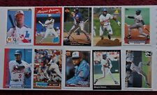 1699 ~ Lot of 10 Different Marquis Grissom MLB Baseball Cards ~ Montreal Expos