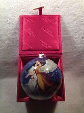 Li Bien Figi Graphics Heavenly Guardian W/Child Glass Christmas Ornament Signed