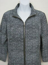 WEEKENDS by CHICO'S Women's Size 2 Gray Full Zip Jacket