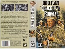 Vhs * Objective Burma * 1945 Pre Cert Australian Warner Home Video - Errol Flynn