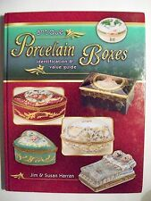 Vintage Porcelain Box Price Guide Collectors Book w/ Trinket Ring Limoges Snuff