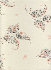 100% Cotton Floral Cream Jersey Printed Dress Craft Fabric Material