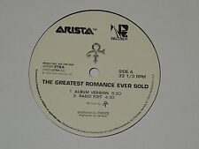 "ARTIST FORMERLY KNOWN AS PRINCE the greatest romance ever sold 12"" RECORD PROMO"