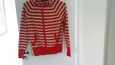 Dorothy perkins thin hooded jumper size 12 striped across zip up front pockets
