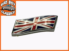 Union Jack battenti bandiera di metallo smalto piccolo BADGE EMBLEMA Mini, MG, Triumph, ecc.