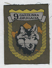 CROATIAN ARMY - HV -  9th GUARD BRIGADE WOLVES - GOSPIC  , patch